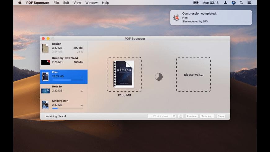 PDF Squeezer for Mac - review, screenshots