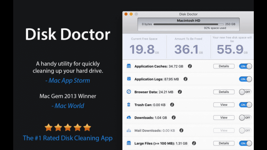 Disk Doctor for Mac - review, screenshots