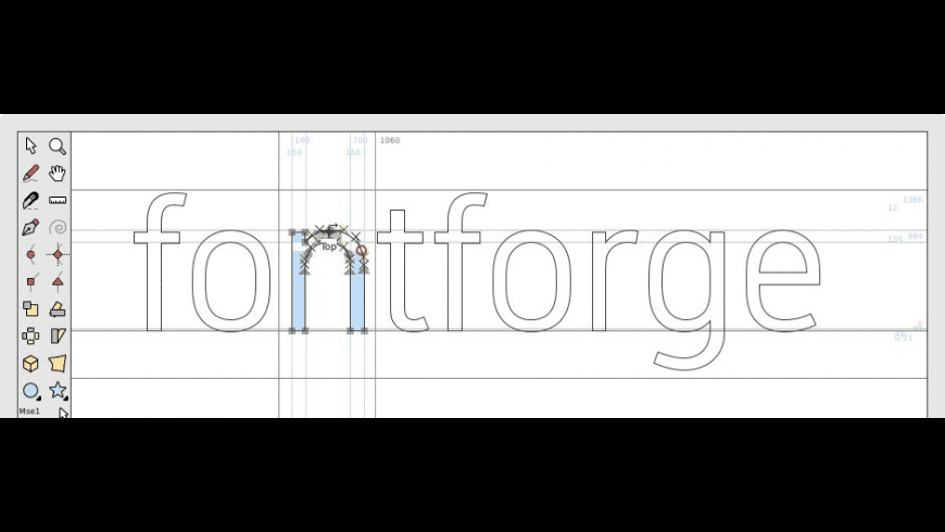 FontForge for Mac - review, screenshots