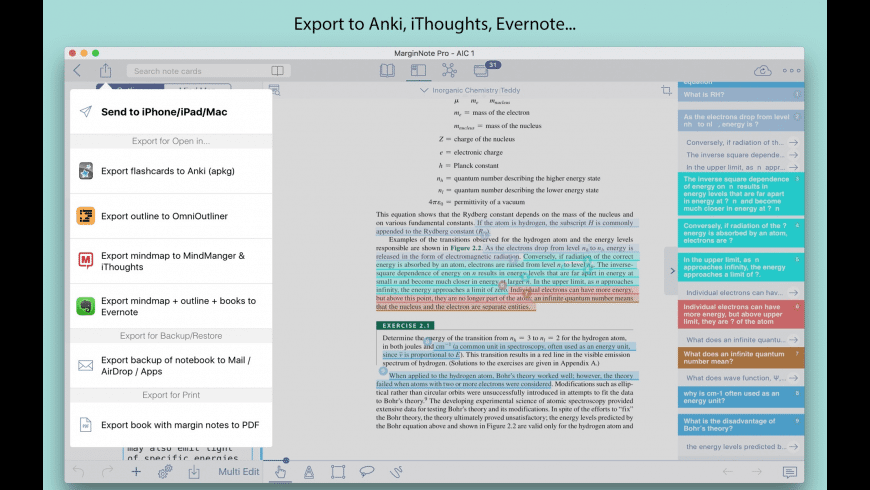 MarginNote Pro for Mac - review, screenshots