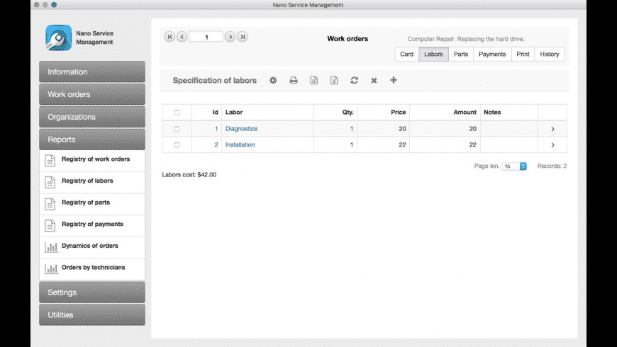 Nano Service Management for Mac - review, screenshots