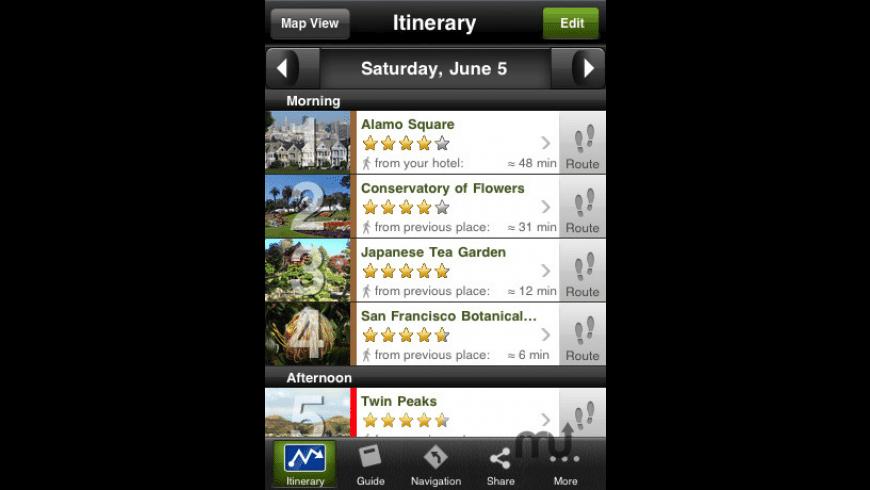 San Francisco Travel Guide - mTrip for Mac - review, screenshots