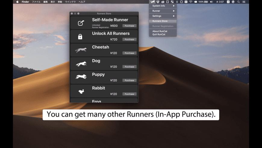 RunCat for Mac - review, screenshots