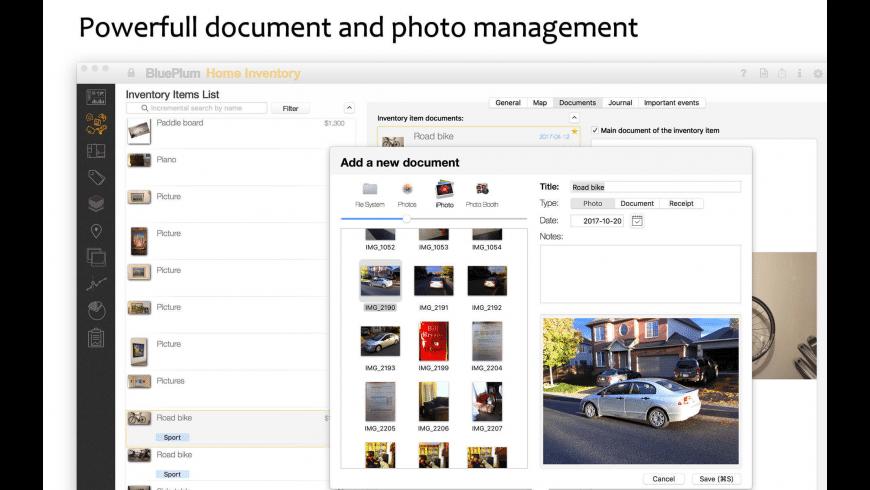 BluePlum Home Inventory for Mac - review, screenshots