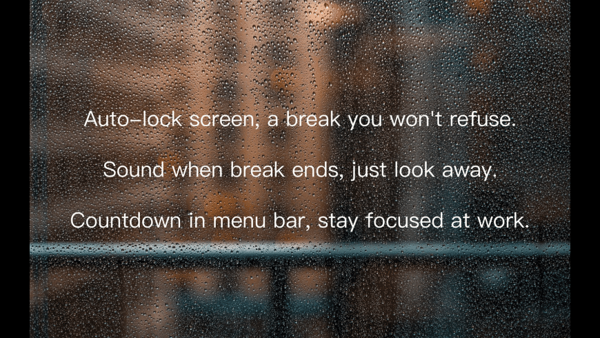 Take a break for Mac - review, screenshots