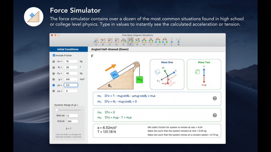 Physics 101 for Mac - review, screenshots