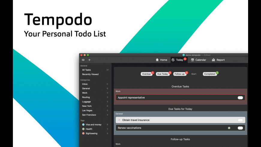 Tempodo for Mac - review, screenshots