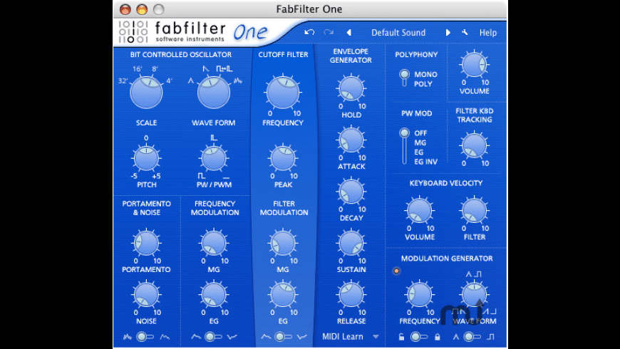 FabFilter One for Mac - review, screenshots