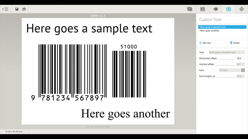 Barcode for Mac - review, screenshots