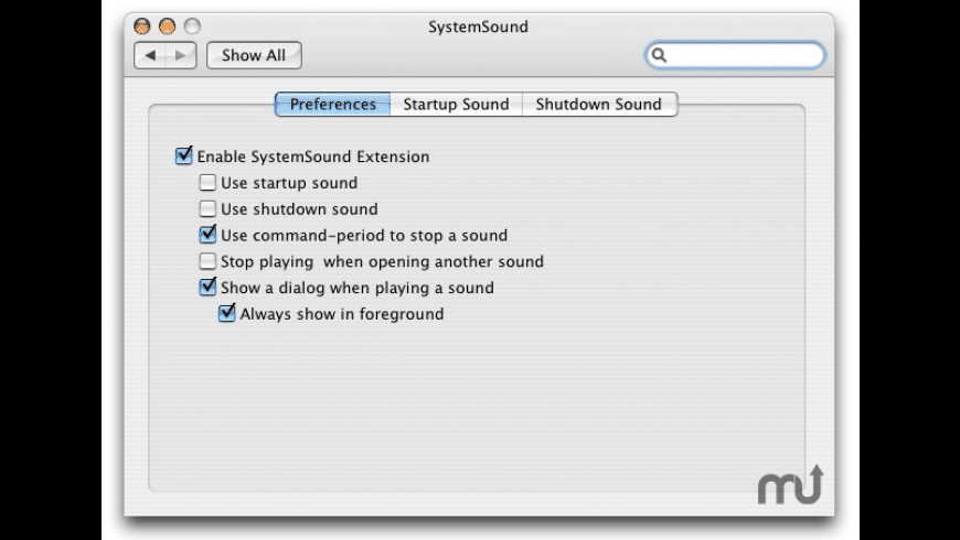 SystemSound Extension for Mac - review, screenshots