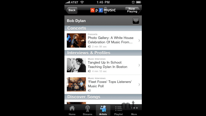 NPR Music for Mac - review, screenshots