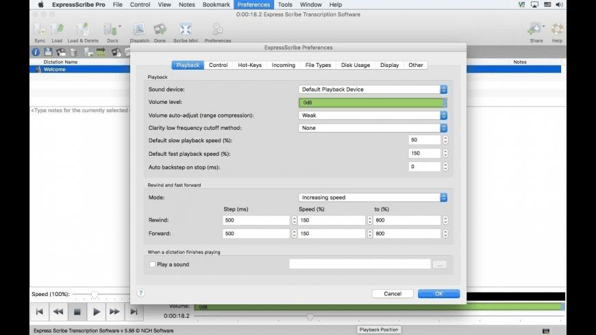 Express Scribe for Mac - review, screenshots