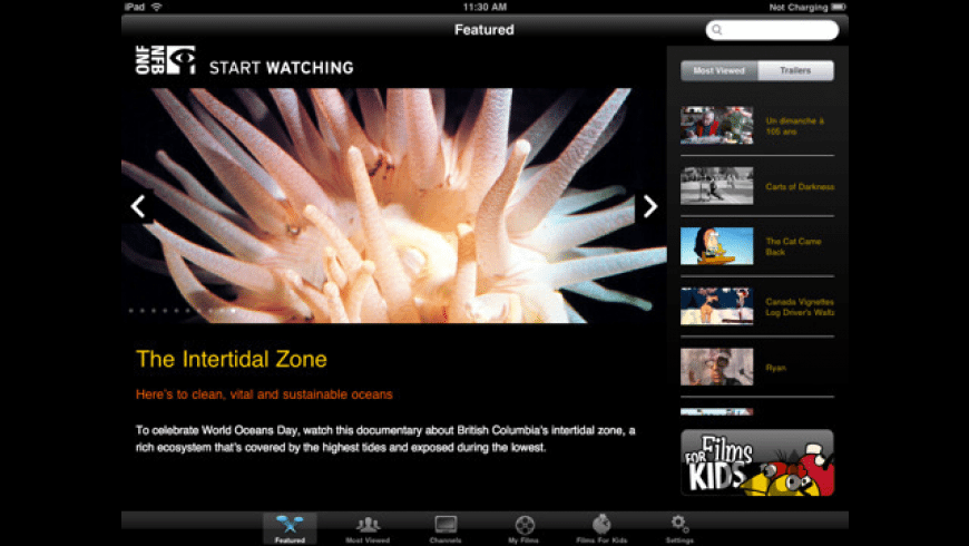 NFB Films for iPad for Mac - review, screenshots