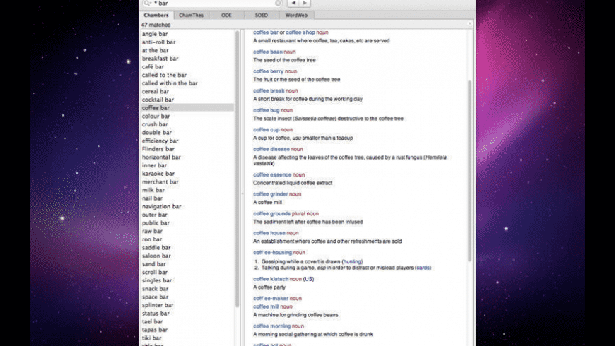 Chambers Dictionary for Mac - review, screenshots