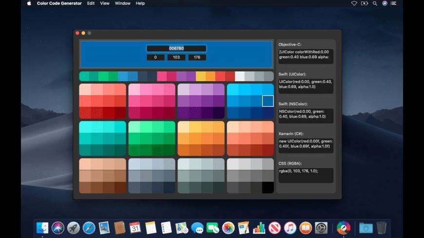Color Code Generator for Mac - review, screenshots