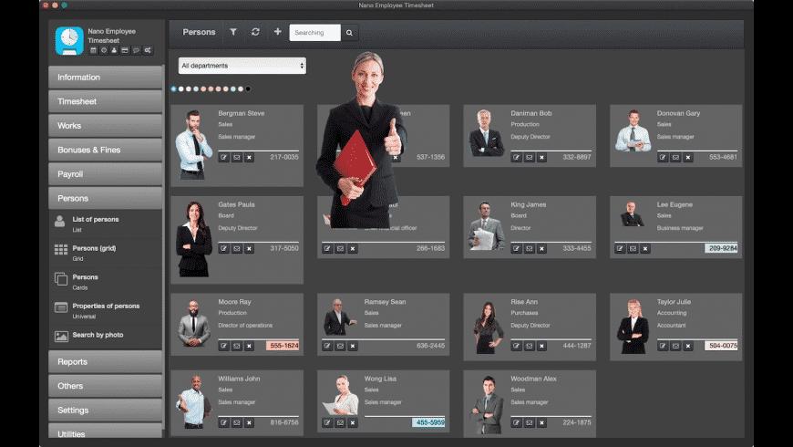 Nano Employee Timesheet for Mac - review, screenshots