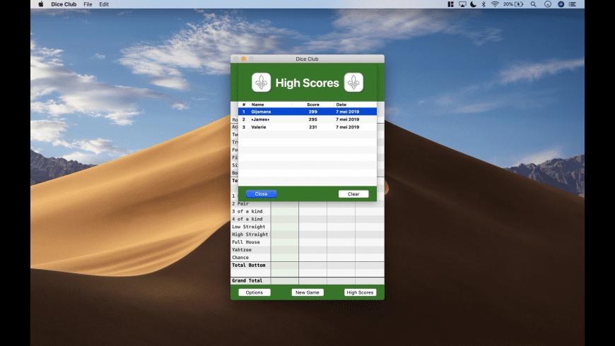 Dice Club for Mac - review, screenshots