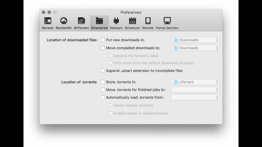 uTorrent for Mac - review, screenshots