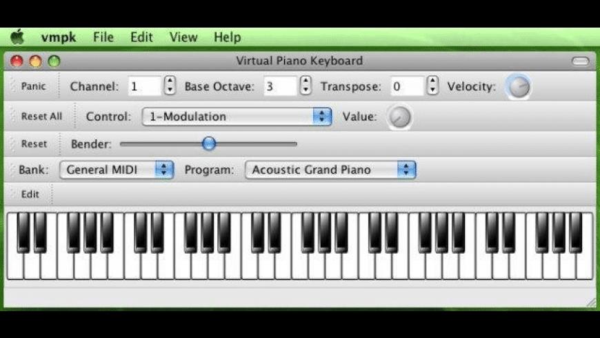 Virtual MIDI Piano Keyboard for Mac - review, screenshots