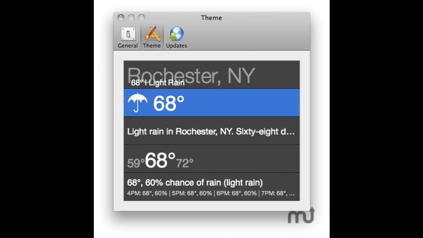 WeatherMin for Mac - review, screenshots