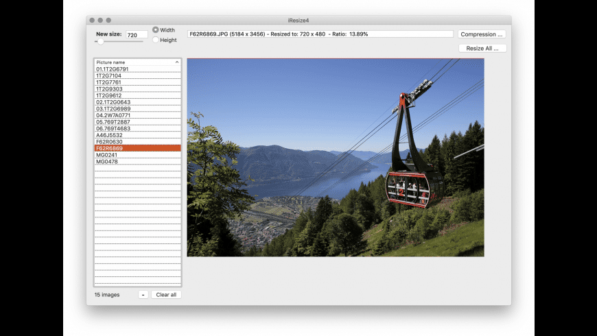 iResize for Mac - review, screenshots