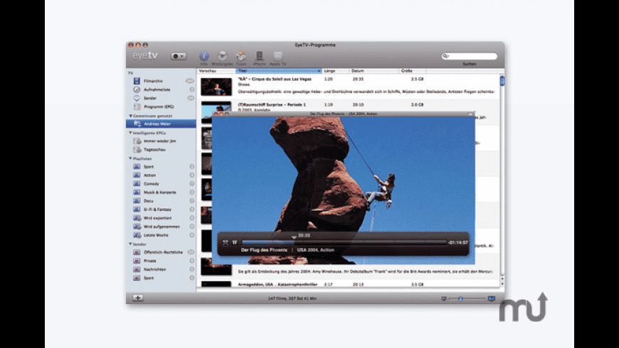 EyeTV for Mac - review, screenshots