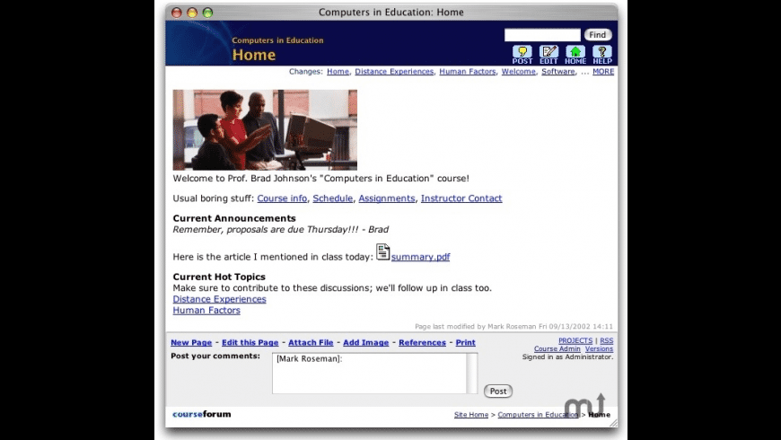 CourseForum for Mac - review, screenshots