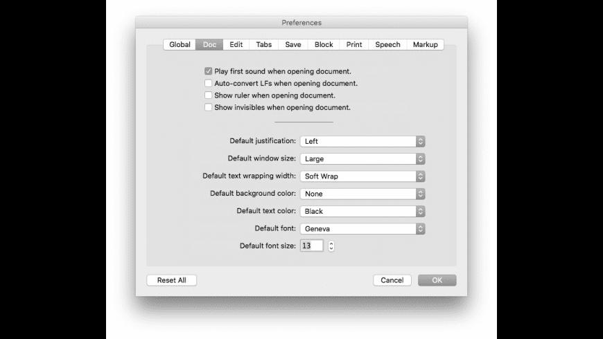Tex-Edit Plus for Mac - review, screenshots