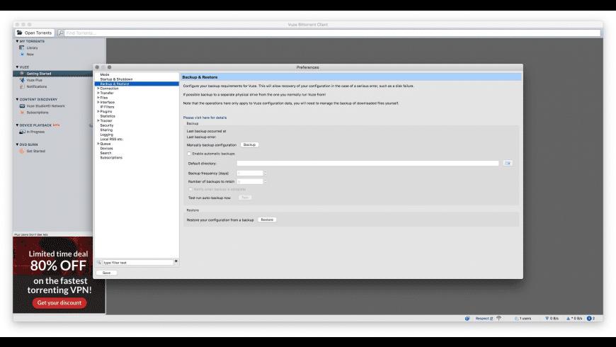 Vuze for Mac - review, screenshots