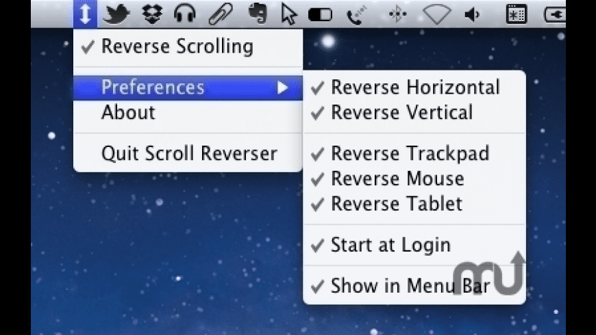 Scroll Reverser for Mac - review, screenshots