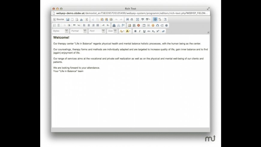 WebYep for Mac - review, screenshots