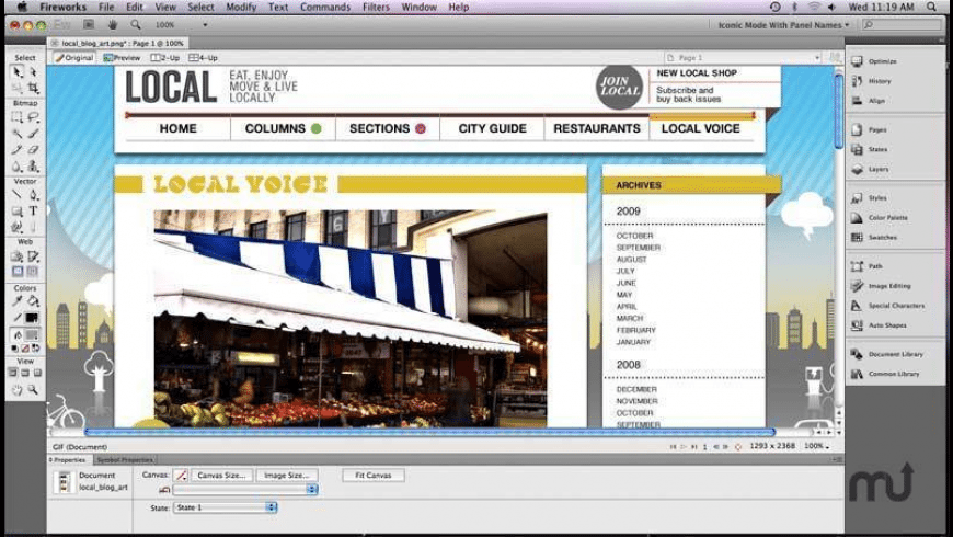 Adobe Fireworks CS6 for Mac - review, screenshots