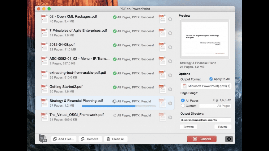 PDF to PowerPoint Converter for Mac - review, screenshots