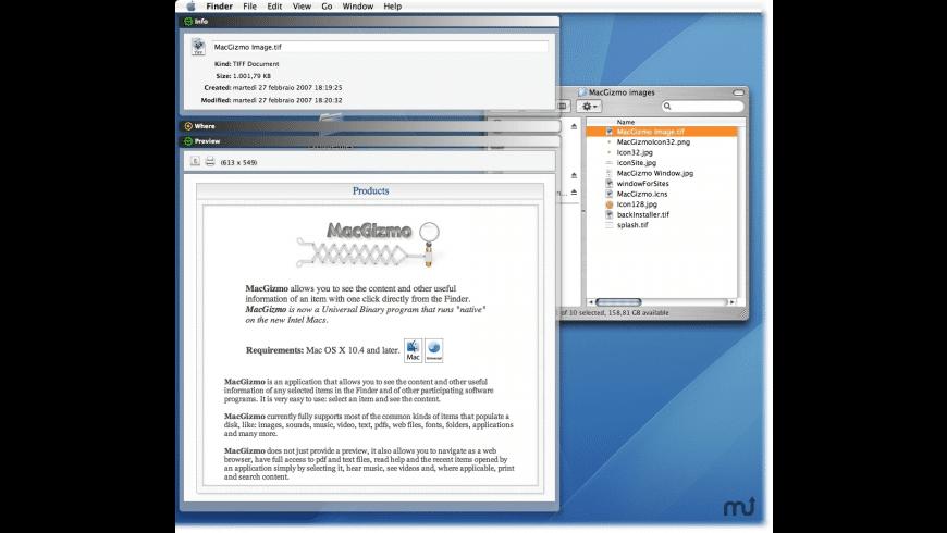 MacGizmo for Mac - review, screenshots