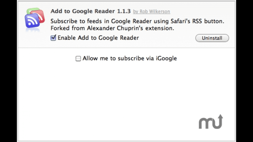 Add to Google Reader for Mac - review, screenshots
