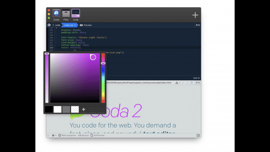 Coda for Mac - review, screenshots