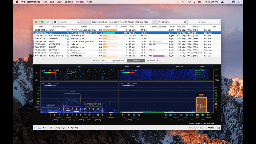 WiFi Explorer Pro for Mac - review, screenshots
