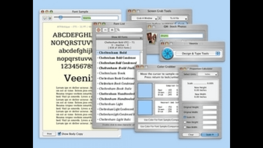 Veenix: Design & Type Tools for Mac - review, screenshots