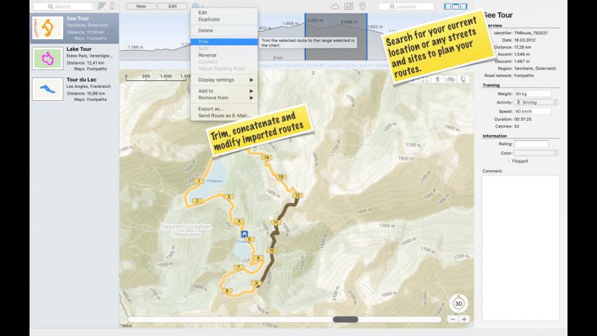 TrailRunner mini — GPX Viewer for Mac - review, screenshots