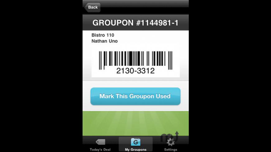 Groupon for Mac - review, screenshots