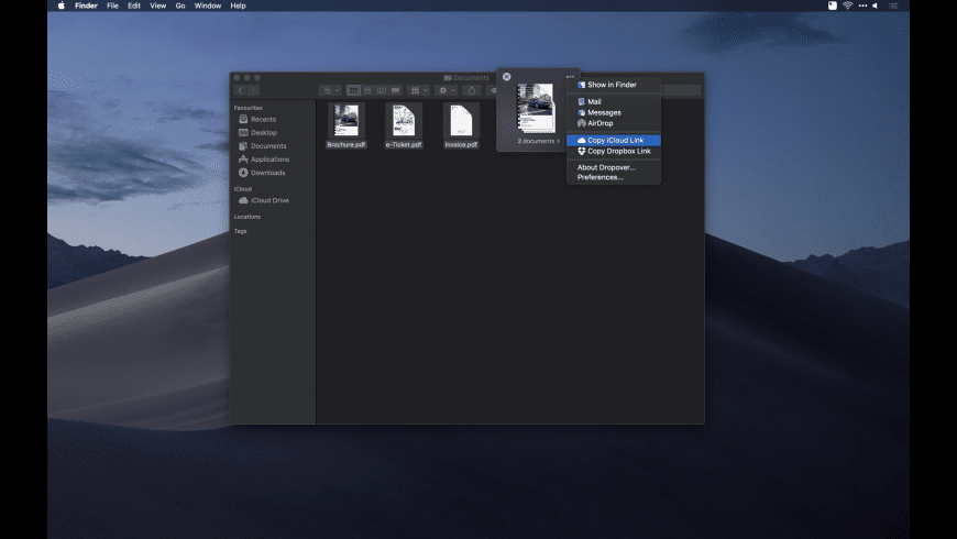 Dropover for Mac - review, screenshots