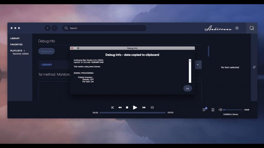 Audirvana for Mac - review, screenshots