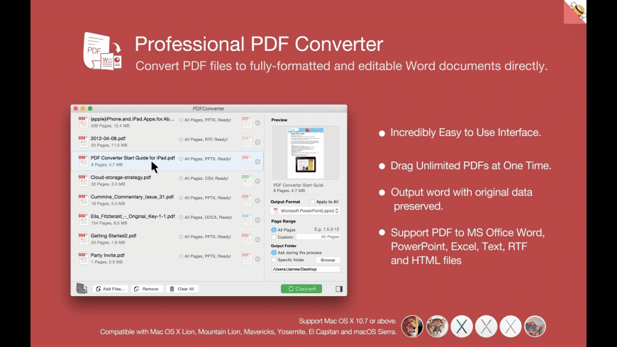 PDF Converter for Mac - review, screenshots