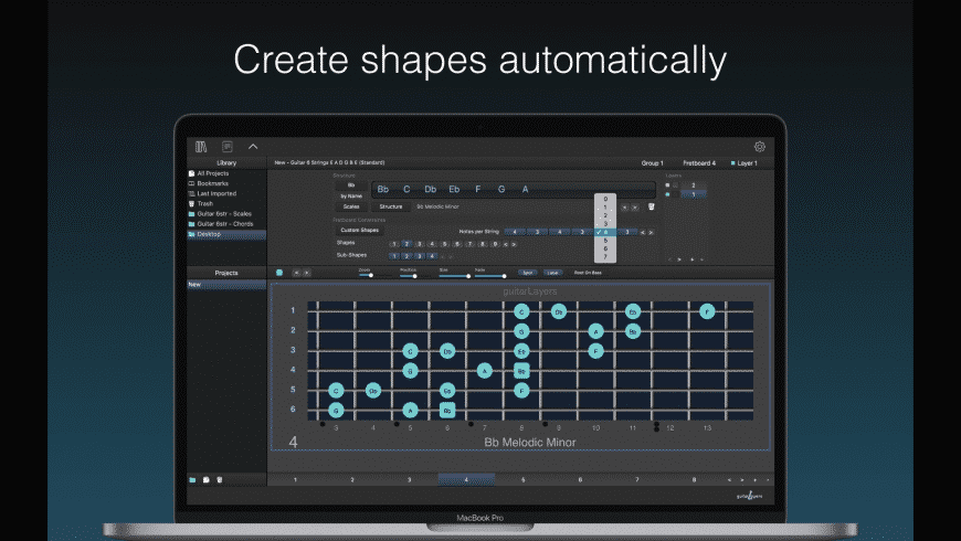 GuitarLayers for Mac - review, screenshots