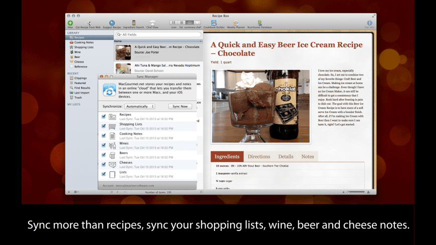MacGourmet Deluxe for Mac - review, screenshots