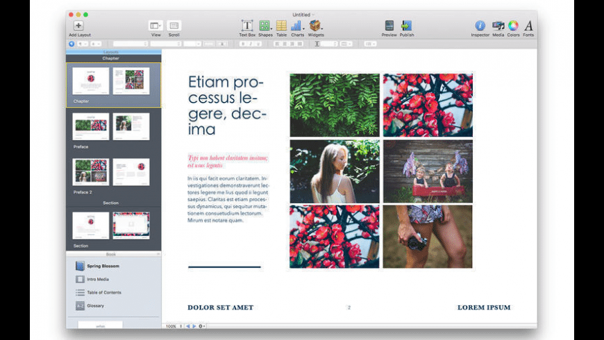 Templates for iBooks Author Free for Mac - review, screenshots