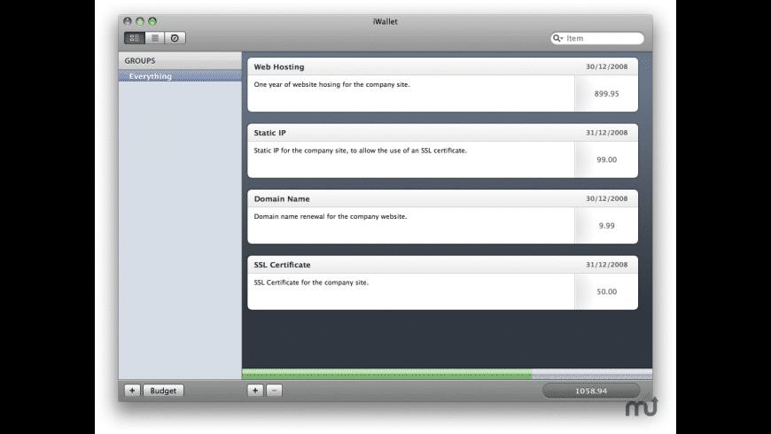 iWallet for Mac - review, screenshots