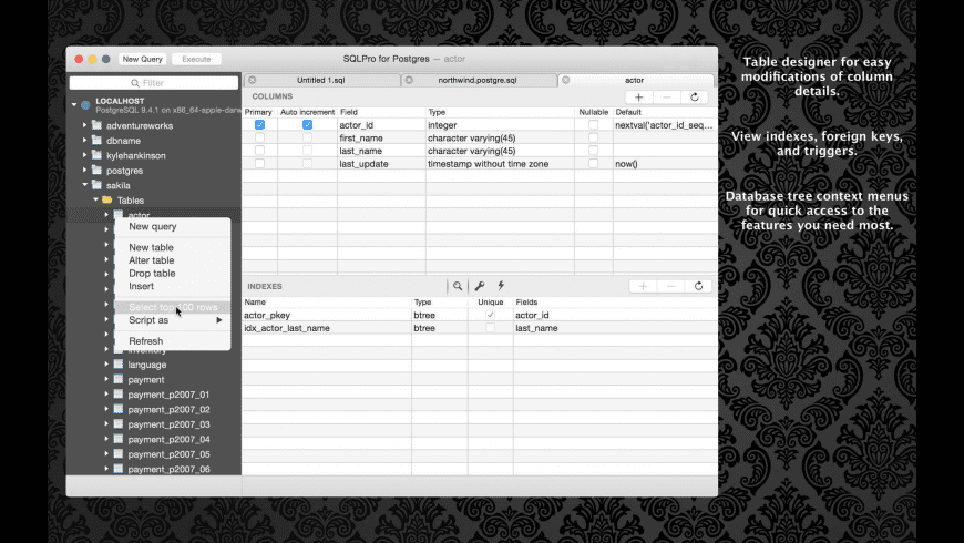 SQLPro for Postgres for Mac - review, screenshots