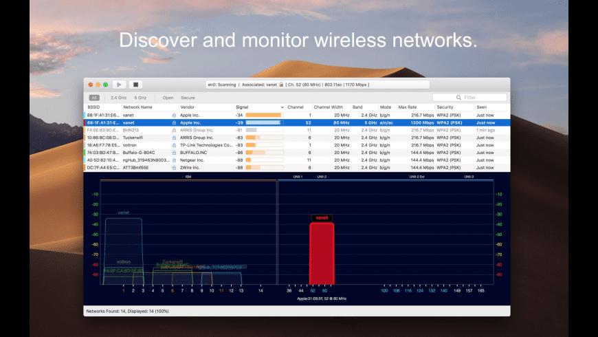 WiFi Explorer Lite for Mac - review, screenshots