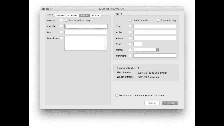 ID3 Editor for Mac - review, screenshots
